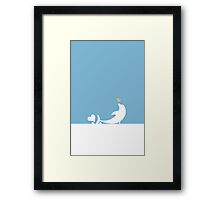 Ocean Dolphin Blue Heart Love Framed Print