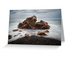 Rocks on a windy day, Boat Harbour, Tasmania Greeting Card