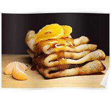 Honey on pancakes Poster
