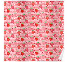 Bright Strawberries Poster