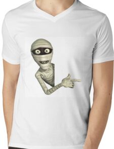 halloween,scary,corpse,dead person,mummy,cute,funny,modern Mens V-Neck T-Shirt