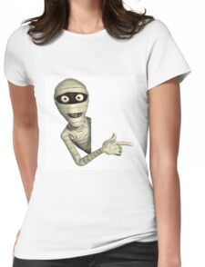 halloween,scary,corpse,dead person,mummy,cute,funny,modern Womens Fitted T-Shirt