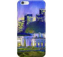 Griffith Park Observatory with LA Nocturne iPhone Case/Skin