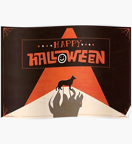 Hounds of Baskerville - Sherlock Halloween Card Poster