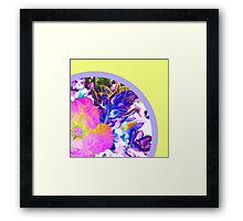 Bright Pink Flower in Purple Coral Reef Framed Print