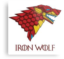 HOUSE STARK - IRON WOLF Metal Print