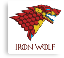 HOUSE STARK - IRON WOLF Canvas Print