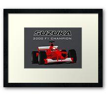F1 Legend #3 - Ferrari F1-2000 Framed Print