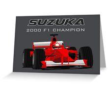 F1 Legend #3 - Ferrari F1-2000 Greeting Card