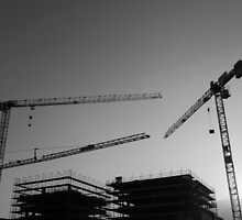 Construction cranes by Mats Silvan