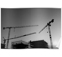 Construction cranes Poster