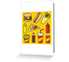 Fast food icons Greeting Card