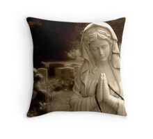 Mary Pray For Us Throw Pillow