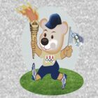 Teddy with Olympic Torch (2504  Views) by aldona