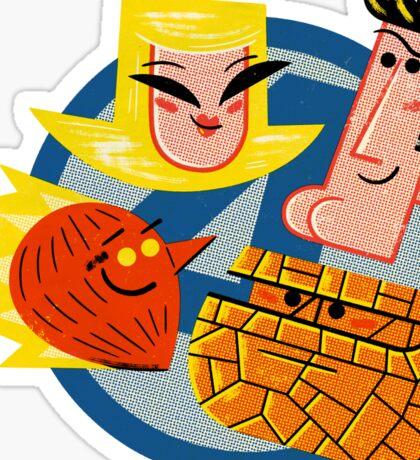 Family of Four Sticker