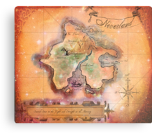 Neverland Map Blanket Full Color King Size Metal Print