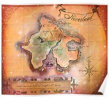 Neverland Map Blanket Full Color King Size Poster