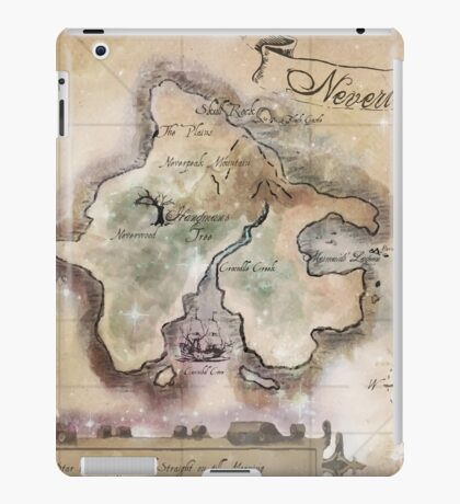 Classic Neverland Map Blanket King Size iPad Case/Skin