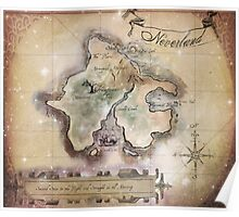 Classic Neverland Map Blanket King Size Poster