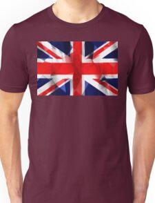 Union Jack low poly pixcel flag texture Unisex T-Shirt
