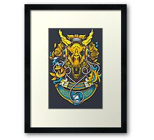 Golden Tricerapod Framed Print