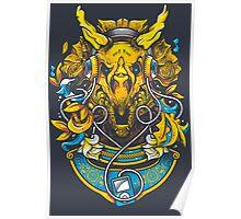 Golden Tricerapod Poster