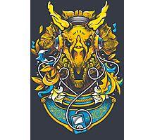 Golden Tricerapod Photographic Print