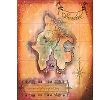 Twin Size Neverland Map Photographic Print