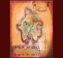 Twin Size Neverland Map by Sophie Green