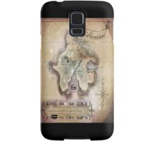 Twin size Classic Neverland Map Samsung Galaxy Case/Skin
