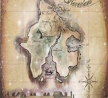 Twin size Classic Neverland Map by Sophersgreen