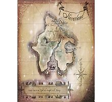 Twin size Classic Neverland Map Photographic Print