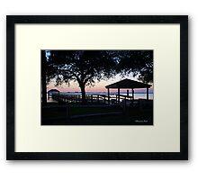 April Twilight in Florida Framed Print