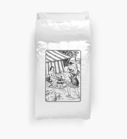 Jacob and Esau Duvet Cover