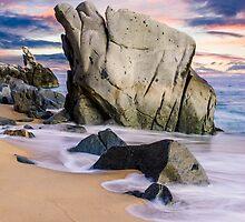 Dusk on Baja Coast by Radek Hofman