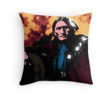 Eddie Plenty Holes Sioux Indian Throw Pillow