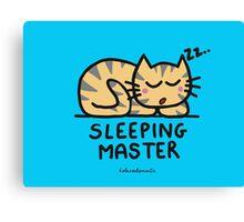 Sleeping master Canvas Print