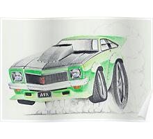 Holden Torana A9X-Burnout by Glens Graphix Poster