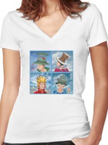 Four Hats Women's Fitted V-Neck T-Shirt