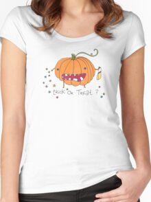 Happy Halloween Pumpkin Women's Fitted Scoop T-Shirt