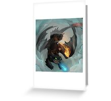 Hiccup and Toothless Greeting Card