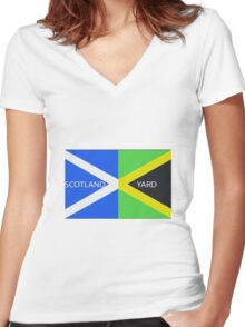 Scotland Yard  Women's Fitted V-Neck T-Shirt