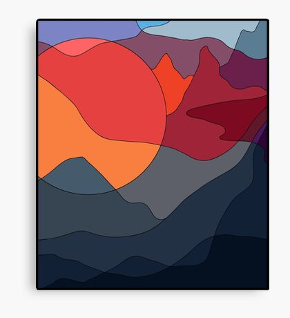 Sunset on Everest Canvas Print