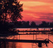 Sunset - Lake Ontario (Portrait) Sticker