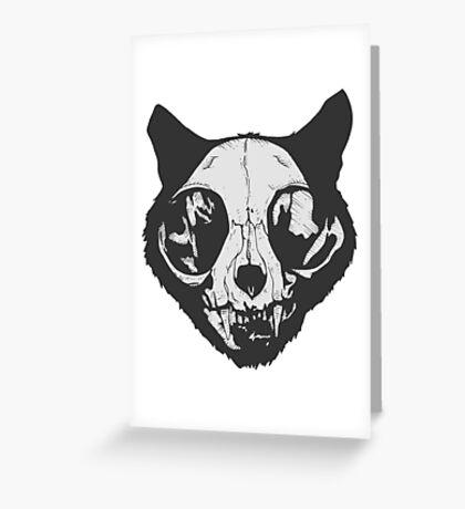 cat skull Greeting Card