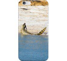 Saltwater Crocodile Eating 1/6 iPhone Case/Skin