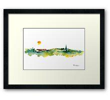 Village In Splendour Framed Print