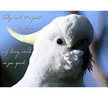 Loving words Photographic Print