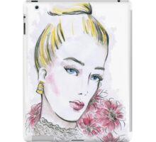 Fashion wedding watercolor illustration iPad Case/Skin