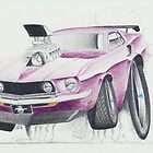 Ford Mustang 1969-Burnout by Glens Graphix by GlensGraphix